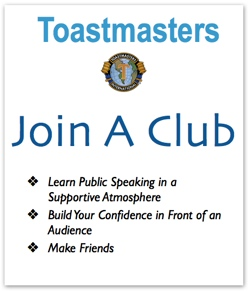 Join Toastmasters