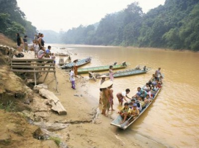 Top Travel Photos: Longboat Crowded with Children, Katibas River, Island of Borneo, By Richard Ashworth