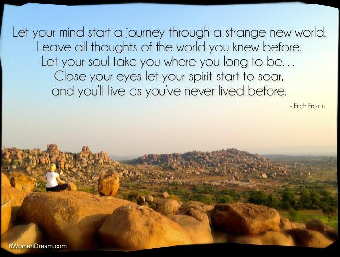 8 Top Travel Gratitude Retreats by Natasha von Geldern: Inspirational travel quote by Erich Fromm