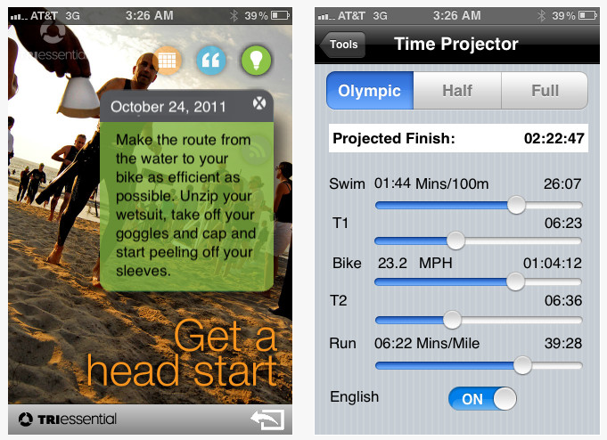 Dream iPhone Apps for Triathletes