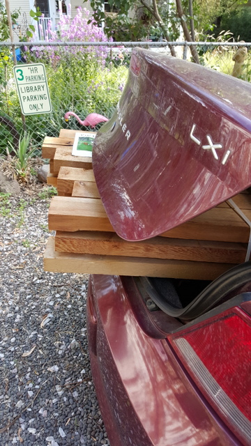 trunk full of lumber