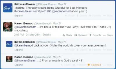 twitter attention from Karen Bernod