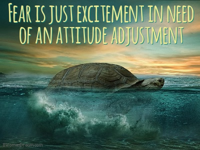 Using Fear to Your Advantage: Fear is just excitement in need of an attitude adjustment quote