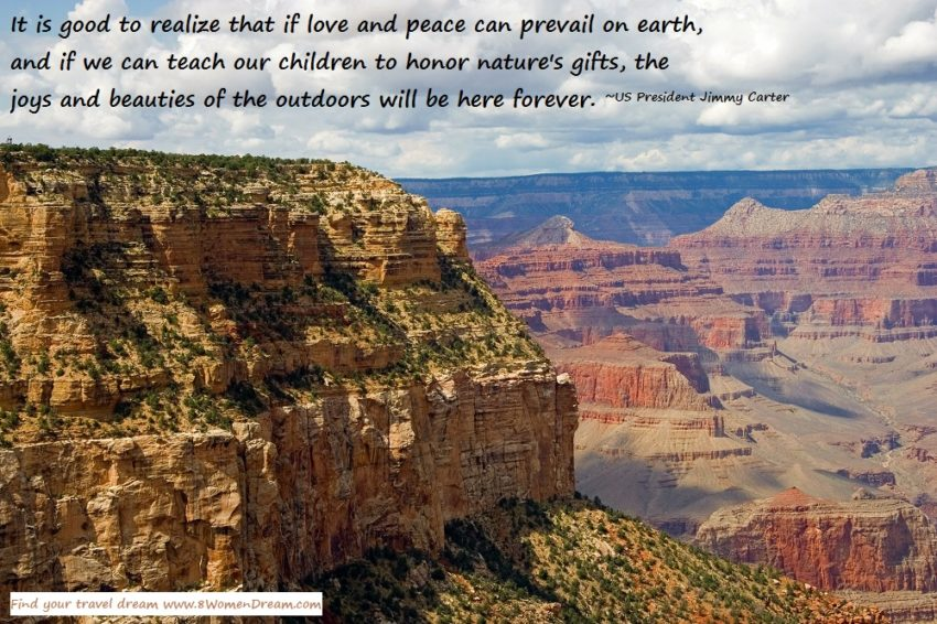 8 Ways to Find Your Dream Park During National Park Week: The Grand Canyon and Jimmy Carter quote