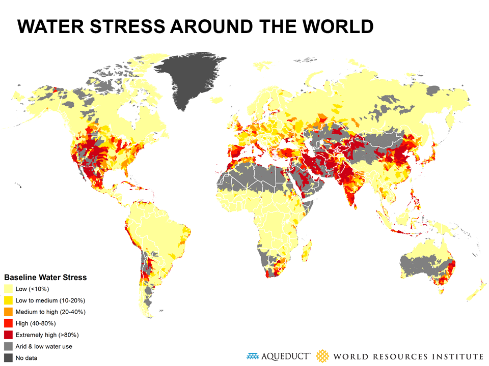 Travel dreams International women's day - water stress around the world