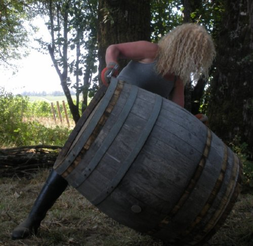 Dream Achievement: Wine barrel prepping in willamette valley for a treehouse