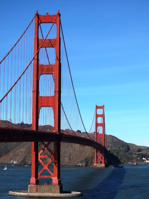 Wordless Wednesday: Golden Gate Bridge Span San Francisco Adventures