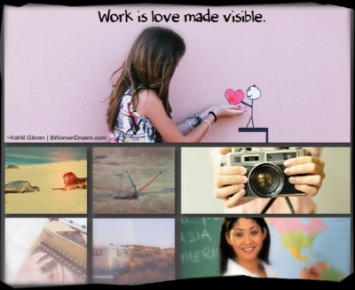 5 Ways to Make Work Feel Like Play - Work is Love Made Visible Picture Quote