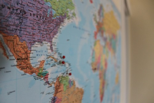 Travel Dreams for 2015: World travel dreams map